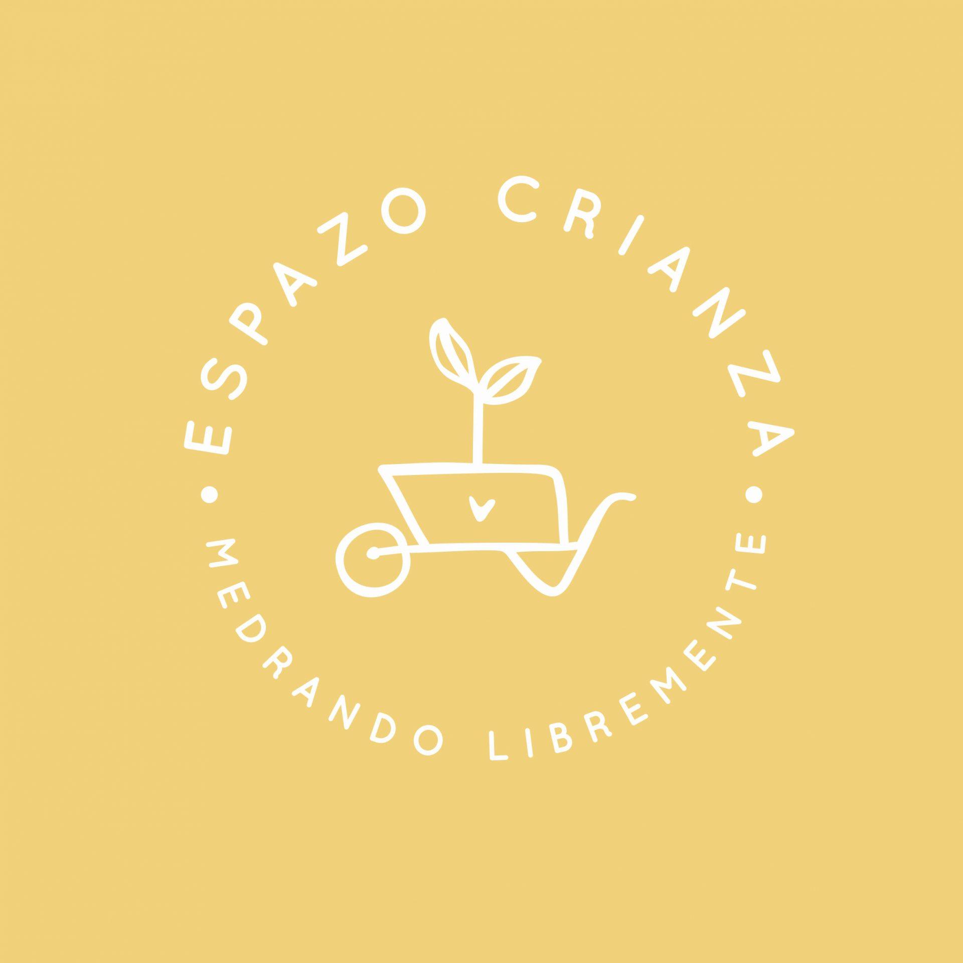 Logo_contra_amarillo Espazo Crianza